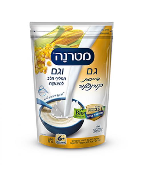 Каша кукурузная - 2 в 1 с молочной смесью, от 6 месяцев, 300 гр